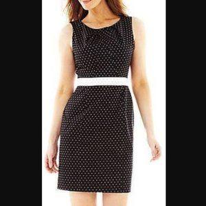 Liz Claiborne Black + White Polka Dot Dress